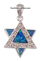 Star of David Pendant with Swarovski Crystals