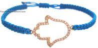 Macrame Bracelet with Golden Hamsa