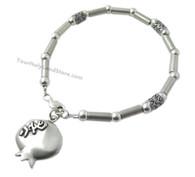 Silver Kabbalah Bracelet with Pomegranate Pendant