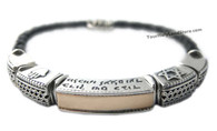 Shema Yisrael Bracelet with Hamsa and Star of David