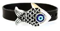 Evil Eye Protection Bracelet with Fish