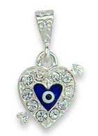 Heart & Arrow Evil Eye Pendant