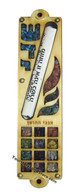 Wood Mezuzah with Scroll