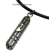 Mezuzah Necklace with Shema Yisrael Scroll