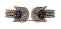 Hamsa Earrings with CZ Crystals
