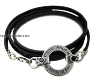 Woman of Valor (Eshet Chayil) Leather Bracelet