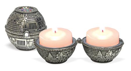 Jerusalem & Hoshen Candlesticks