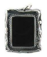 "Silver & Black Onyx Pendant with ""Shema Yisrael"""