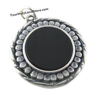 Silver & Black Onyx Kabbalah Pendant