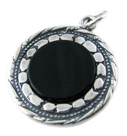 Silver & Black Onyx Pendant with Priestly Blessing