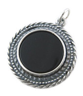 Silver & Black Onyx Protection Pendant