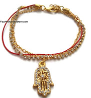 Kabbalah Red String Bracelet with Hamsa