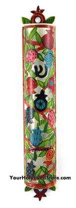 Hand Painted Mezuzah