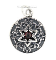 Sterling Silver Star of David Pendant with Blessing