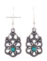 925 Sterling Silver Hamsa Earrings
