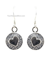 Silver Heart Earrings - Song of Solomon