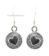 Silver Heart Earrings - Song of Solomon
