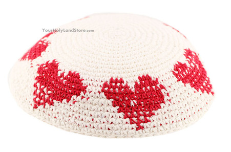 Kippah with Hearts