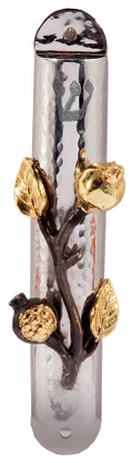 Door Mezuzah - Pomegranate Design
