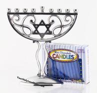 Chanukah Menorah with Candles