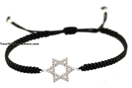 Star of David Macrame Bracelet