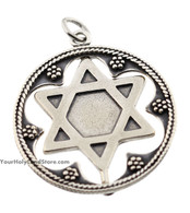 Silver Star of David & Shema Yisrael Pendant