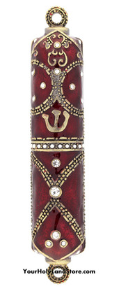 Mezuzah Case with Crystals