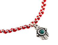 Red String Bracelet with Hamsa