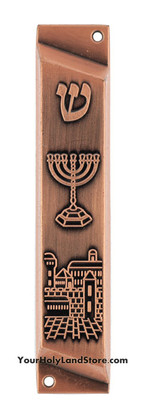 Mezuzah Case with Menorah