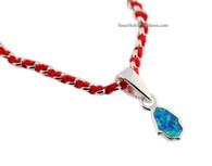 Kabbalah Red String Bracelet with Opal Hamsa
