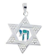 Stard of David and Chai Pendant