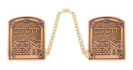 Jerusalem Tallit Clips with Stars of David