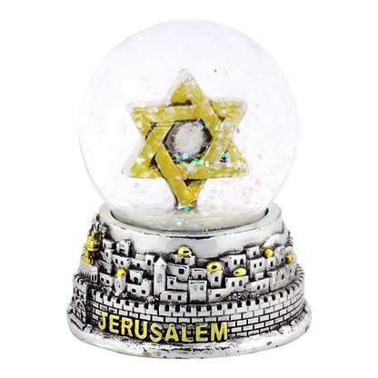 Snow Globe with Star of David