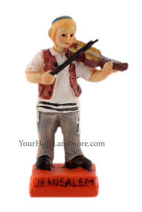 Jewish Boy Playing Violin Figurine