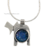 Ancient Roman Glass Chai Necklace