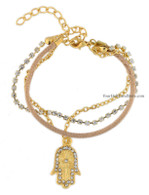Hamsa Bracelet with Sparkling Crystals