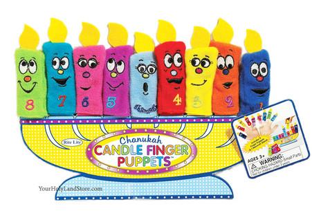 Hanukkah Candle Finger Puppets