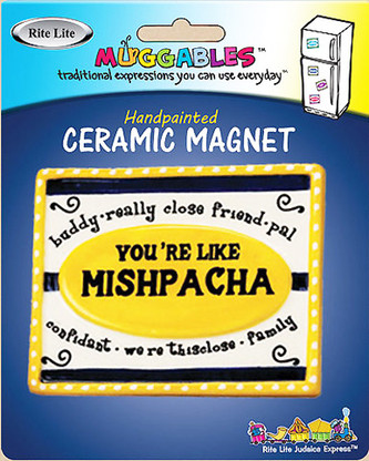 """You're Like Mishpacha"" Handpainted Ceramic Magnet"