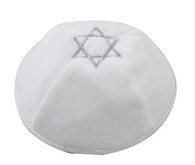 Velvet Kippah with Silver Star of David