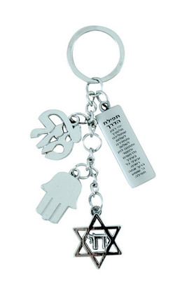 Key Holder with Prayer for Travelers