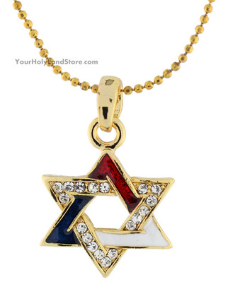 Gold Plated Star of David Necklace