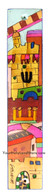 Wooden Mezuzah with Hand Painted Jerusalem Views