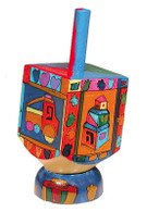 Wooden Dreidel with Stand