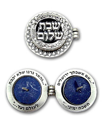 Shabbat Shalom Travel Candlesticks