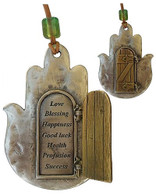 Hamsa Wall Hanging with Seven Blessings