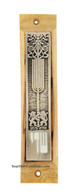Olive Wood Mezuzah Case with Lion of Judah