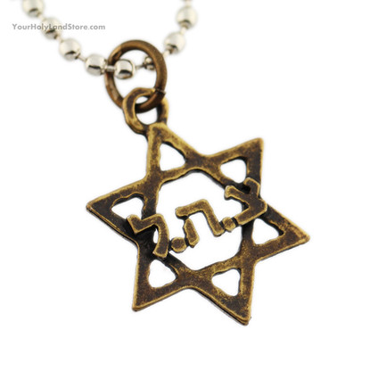 Star of David IDF Necklace