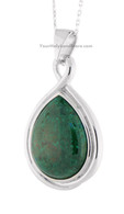 Eilat Stone and Silver Pear Shape Pendant
