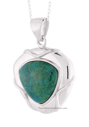 Eilat Stone and Sterling Silver Pendant