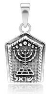 Silver Menorah Pendant - Symbol of Israel